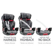 car seat car seat recall evenflo voluntarily recalls certain transitions booster seats in each of