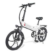 <b>Samebike 20LVXD30</b> Folding Electric Moped Bike White