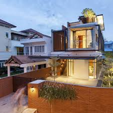 Landscape Design For Semi D House A Semi Detached House In Singapore Connects To Its