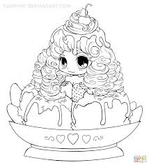 Small Picture Chibi Frosting Fairy Girl coloring page Free Printable Coloring