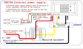 dc 4 5 30v voltmeter ammeter 0 50a led digital voltage amp current here below is the wiring diagram for your reference