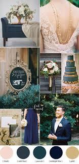 Dark Blue And Gold Wedding Theme
