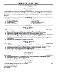 Business Business Analyst Resume