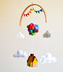 up and away baby crib mobile hot air balloon baby boy baby girl nursery