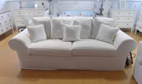 ... OLYMPUS DIGITAL CAMERA: Cool white fabric sofa