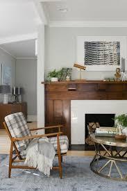 beautiful wood fireplace mantle and surround found on stylebyemilyhenderson com