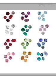 Birthstone Color Chart By Month Free Download