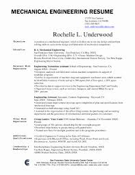 Sample Resume Format For Experienced Mechanical Engineer New Resume