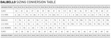 Kids Ski Boot Size Chart Mm Dalbello Gaia 3 0 Gw Girls Ski Boot 2020
