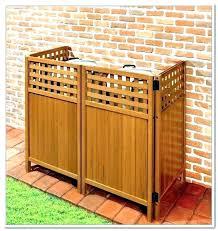 trash can trash can enclosure outdoor garbage storage outside cabinet enclosures