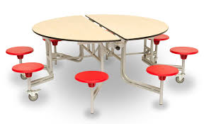 round mobile folding table round mobile folding table seating unit red chairs
