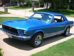1968 ford mustang coupe blue - AOL Image Search Results