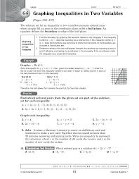 graphing inequalities worksheet or graphing linear equations in two variables worksheet stunning algebra 2 graphing quadratic