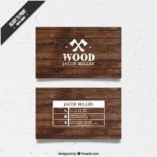 wooden business card free vector