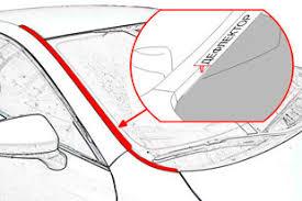 Водосток (<b>дефлектор</b>) <b>лобового стекла Strelka</b> | Suzuki SX4 SD ...