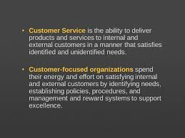 How Would You Describe Customer Service Learning Objectives 5 1 Define Customer Service And Identify