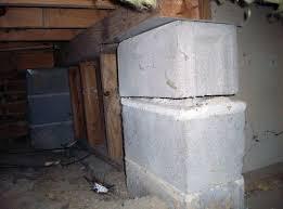 collapsing crawl e support pillars latrobe
