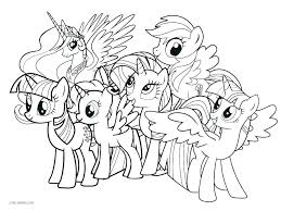 My Little Pony Movie Colouring Pages Coloring Source Kids