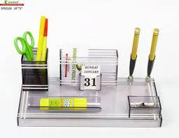 office pen holder. Rasper 3 Compartments Acrylic Small Office Pen Holder A