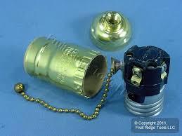 leviton brass on off pull chain lamp light socket lamp holder electrolier 660w 250v 19980 fruit ridge tools