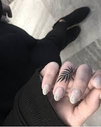 папоротник тату татуировка палец тату минимализм и тату