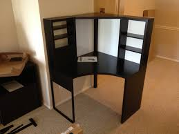 charming corner ikea micke desk with hutch for home office furniture ideas