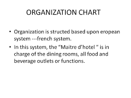 Organizational Chart Food And Beverage Organization Chart Organization Is Structed Based Upon
