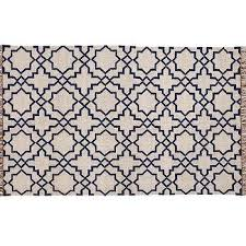 beverly navy moroccan tiles fringed rug