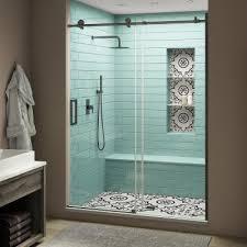 frameless bronze shower doors
