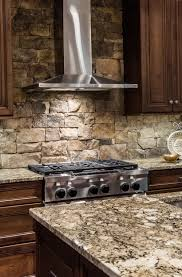 Stone Kitchen Stacked Stone Backsplash For Kitchen Home Design Ideas