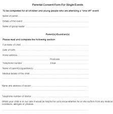 Permission Slip Forms Template Permission Forms Template Sample Parental Consent Form