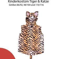 By maggie a la/s november 08, 2017 post a comment. Nahanleitung Kinderkostum Tiger Katze Gr 86 116 Fur Anfanger Geeignet Katzenkostum Kinder Kinder Kostume Kostum Katze
