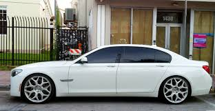 BMW 3 Series white 750 bmw : White BMW 750 with custom rims | Exotic Cars on the Streets of Miami