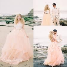 peach wedding dress. Discount Fairy Tale Peach Gold And White Wedding Dresses Beautiful A