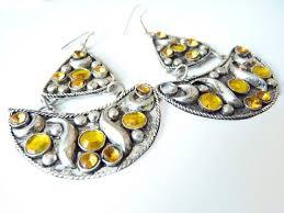 vintage hippie chandelier earrings boho