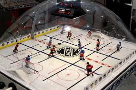 gorgeous this classic bubble hockey table can be yours for a few grand wired bubble hockey table for