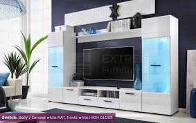 White Gloss Furniture For Living Room Voguish Furniture Combo For Living Room Freestanding Tall