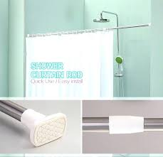 install curved shower curtain rod shower curtain rod height how to install shower curtain rod retractable