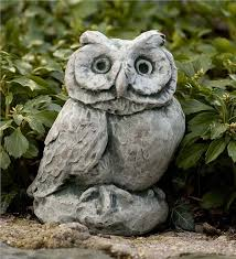 Main Image For Cast Stone Owl Garden Statue  Wind \u0026 Weather