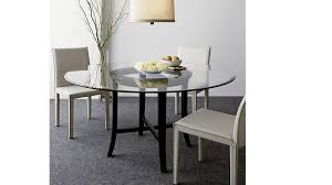 round dining table base: amazing halo ebony round dining table with quot glass top crate and barrel with regard to round glass dining table top ordinary