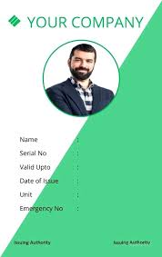 Work Id Template Office Id Card Template Ms Word Business Size Free