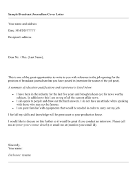 Awesome Collection of Journalism Student Cover Letter Examples For