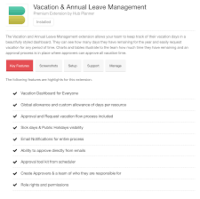 Annual Leave Process Flow Chart Vacation Pto Annual Leave Extension Hub Planner