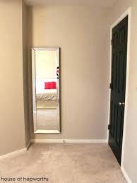 how to hang up a mirror hang mirror on door door hanging mirrors full length spectacular