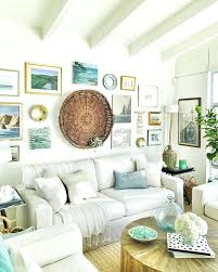 beach wall decor ideas a cozy beach cottage living room with a seaside inspired gallery wall