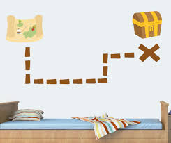treasure map pack of 16 wall art stickers mural transfer decal jake pirates