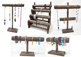 Wooden Necklace Display Stands T Bar Wooden Jewelry Display Stand Wooden Necklace Bracelet 16