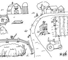 Farm Coloring Pages Farm Scene Countryside Coloring Sheets Coloring
