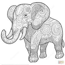 25 Zoeken Olifant Volwassenen Kleurplaat Mandala Kleurplaat Voor