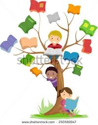 stickman ilration of kids reading books growing off a tree this stock vector on shutterstock find other images